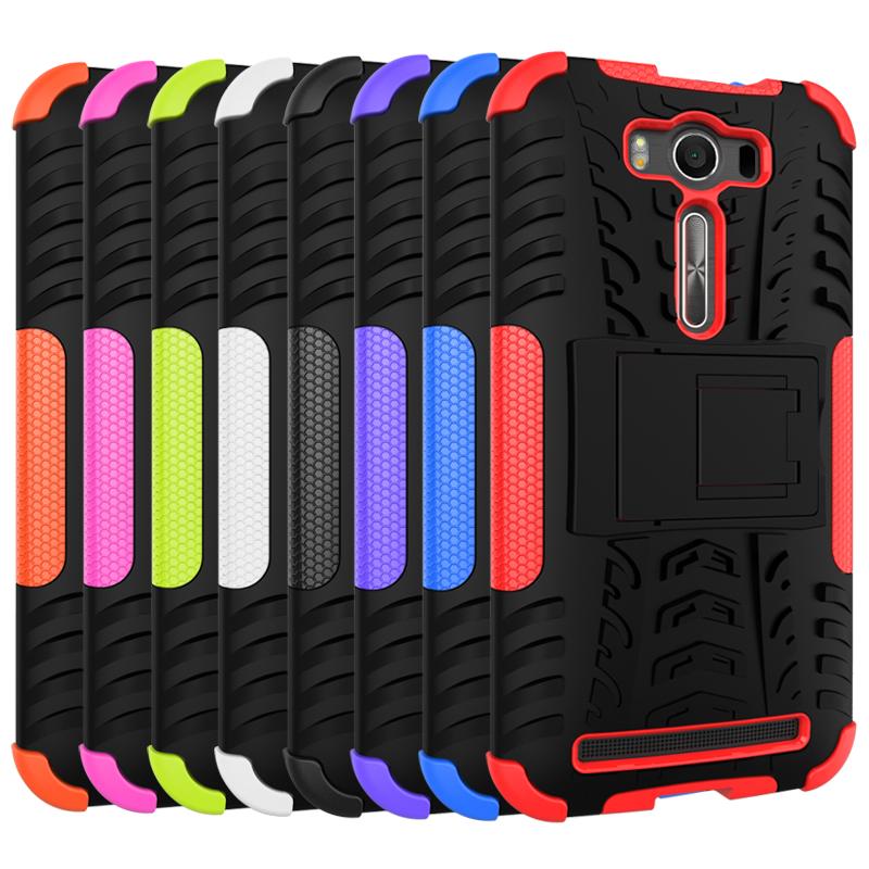 PC TPU Kickstand Phone Case For Asus Zenfone 2 Laser