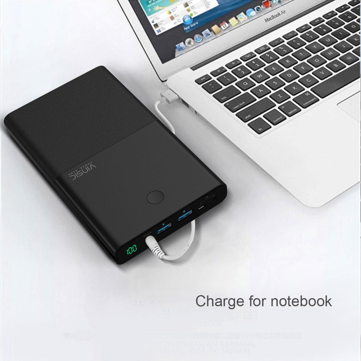 vinsic dual usb power bank 30000mah phone charger for. Black Bedroom Furniture Sets. Home Design Ideas