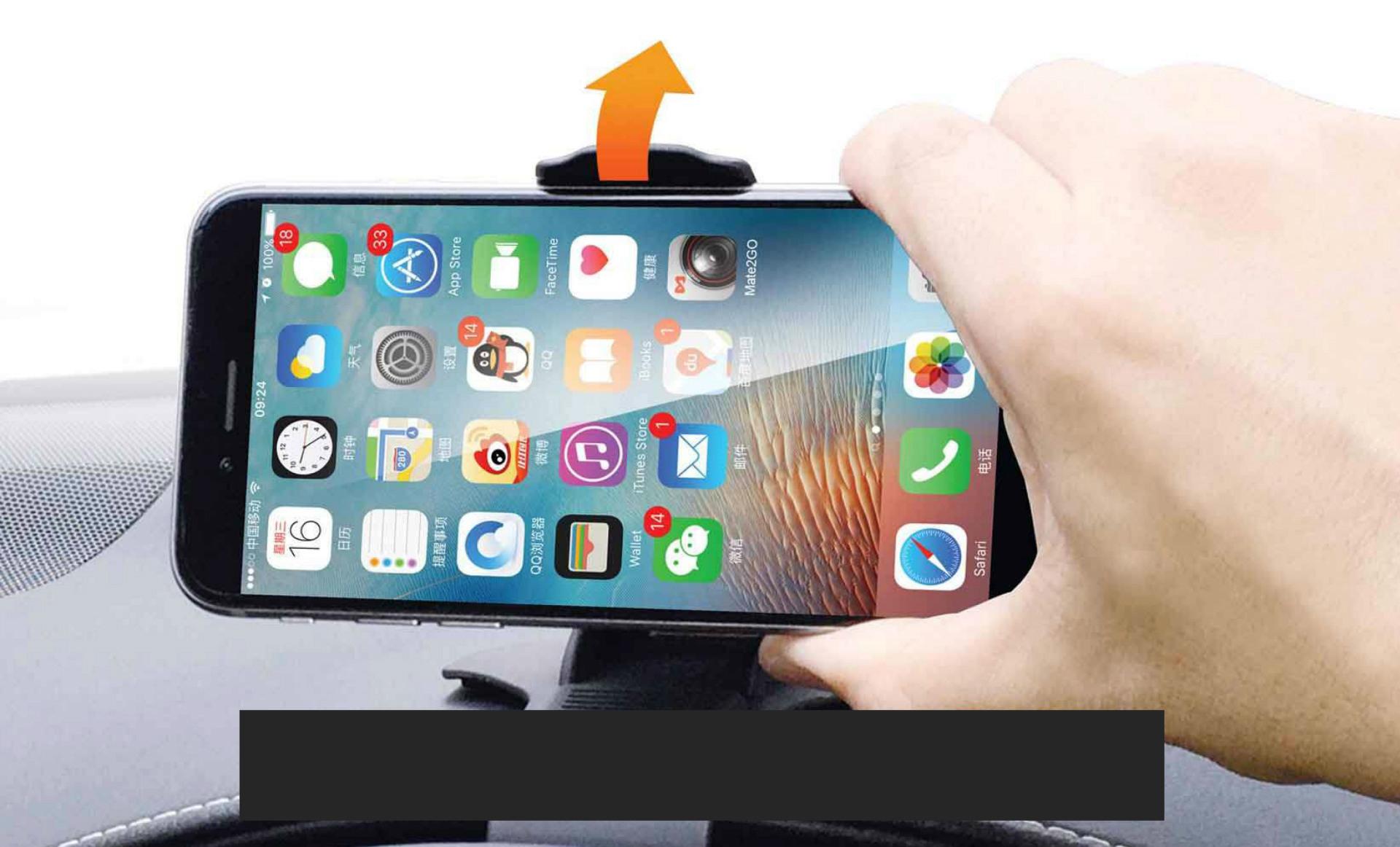 MATE2GO Universal Flexible Phone Clip Holder Desk / Car Mount for ...