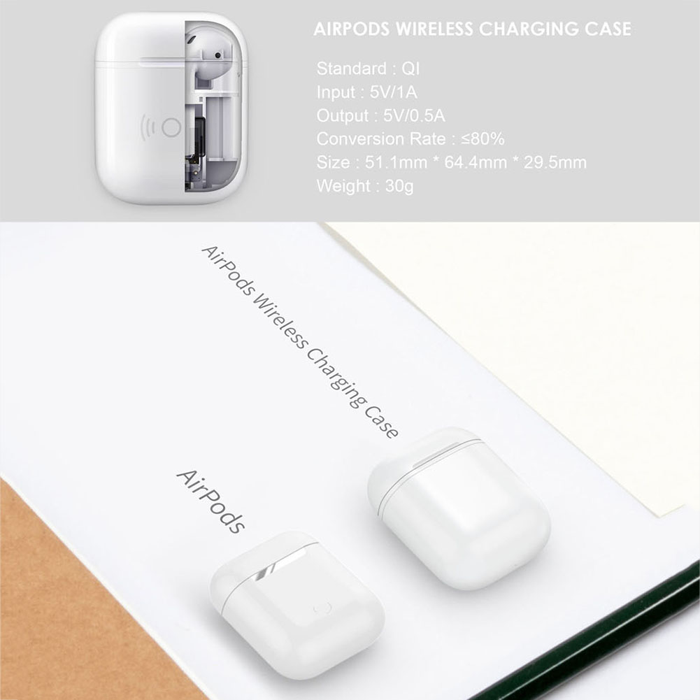 wholesale dealer 32faf 01273 Details about Wireless Charging Case for Apple Airpods Qi Standard Airpods  Wireless Charging